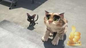 Кадр из Жил был кот