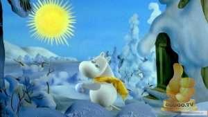 Кадр из Муми-тролли и зимняя сказка